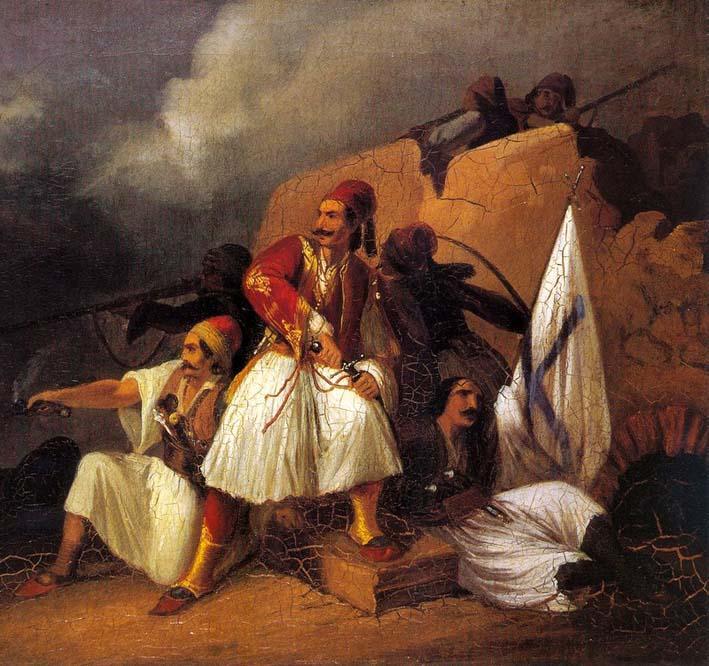 Περιγραφή: Πίνακες του Θ. Βρυζάκη με θέμα την ελληνική επανάσταση του 1821 ...