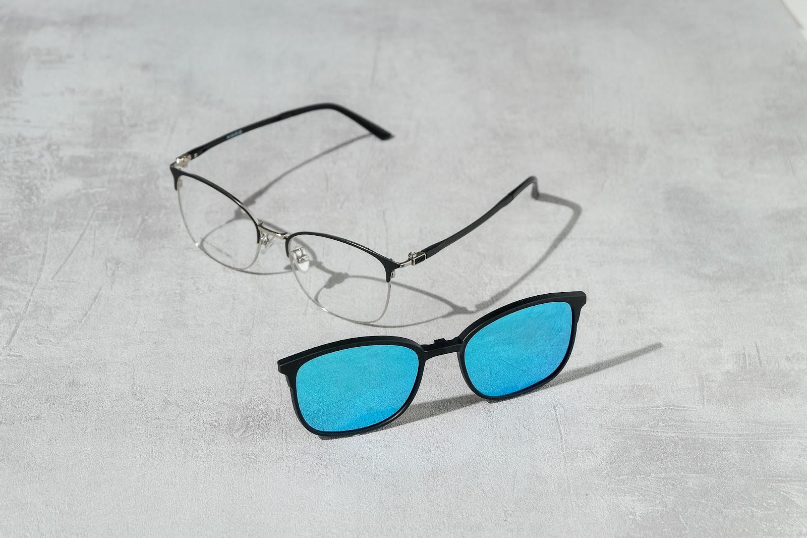 kính râm kẹp kính cận