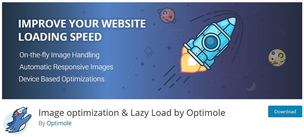 página de download do plugin optimole para wordpress