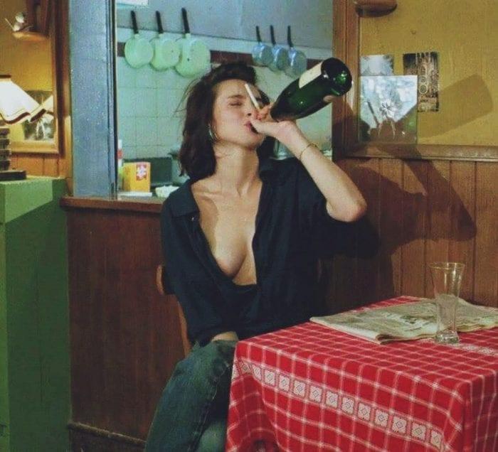 Betty gets drunk on wine