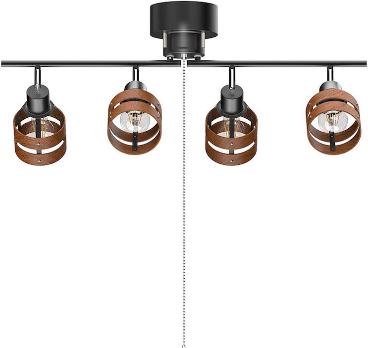 シーリングライト4灯 スポットライト