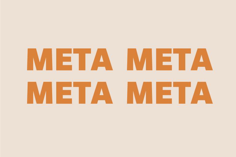 """Rebus puzzle """"Meta Meta Meta Meta"""""""