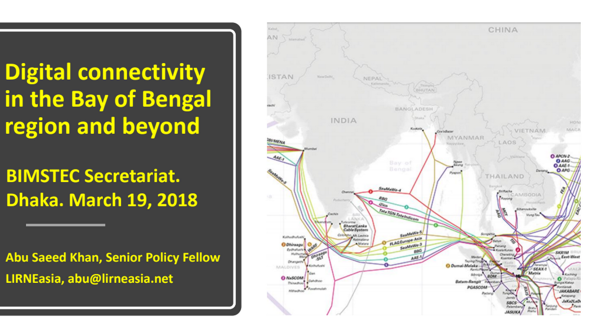Digital connectivity in the Bay of Bengal region and beyond
