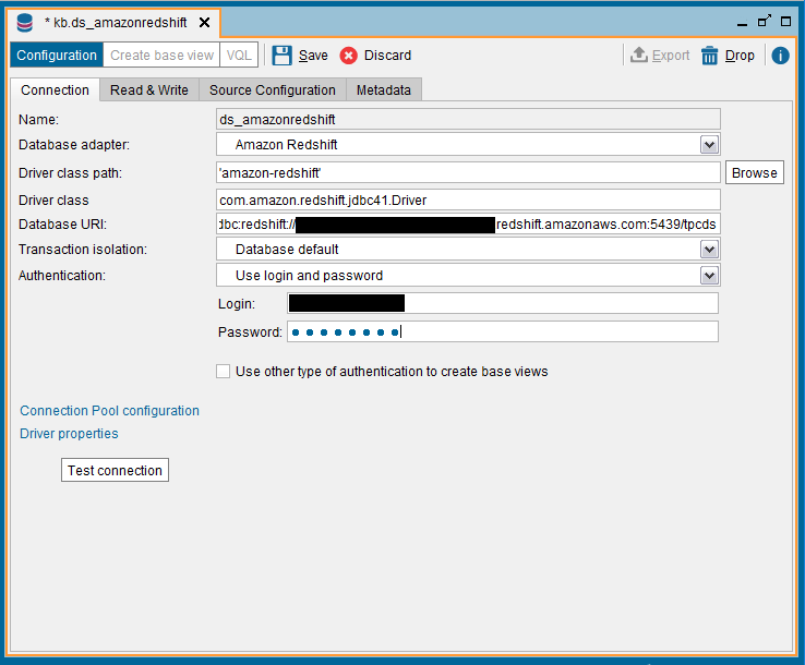 How to connect to Amazon Redshift from Denodo