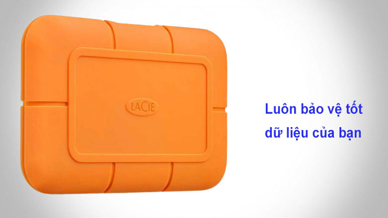 Ổ cứng gắn ngoài SSD LaCie Rugged Thunderbolt 3 1TB USB-C (STHR1000800) | Bảo vệ tốt dữ liệu