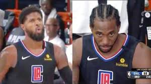 Kawhi Leonard's expression in response to Paul George's airball vs  Mavericks is 'GOLD'   The SportsRush