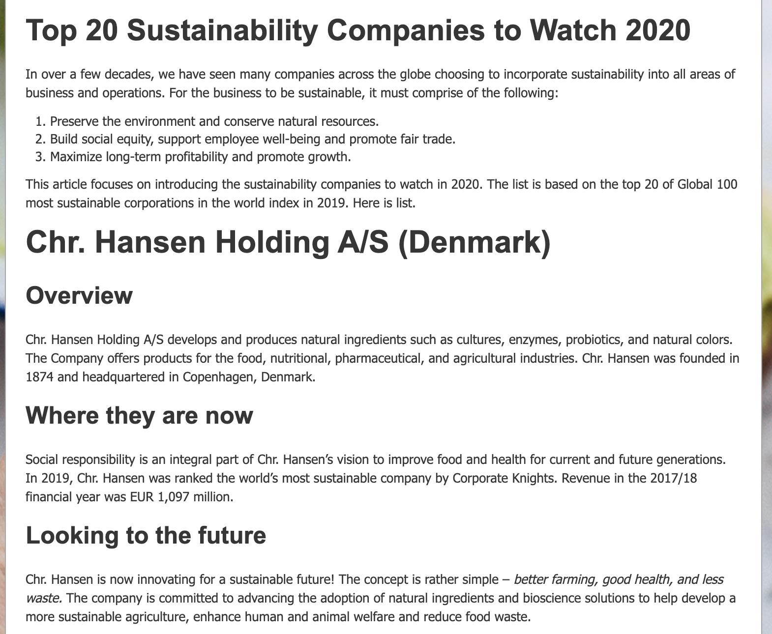 ecopruner top 20 sustainability companies