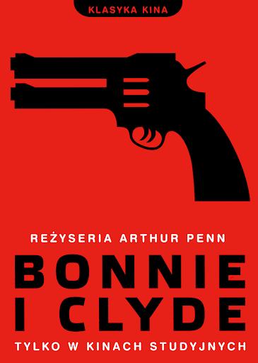 Przód ulotki filmu 'Bonnie i Clyde'