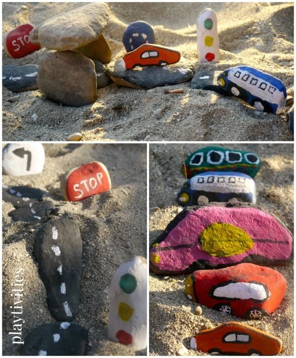 Painted Rocks As Toy Surrogates