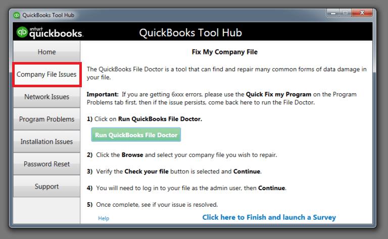 Working of Quicbooks Tool Hub
