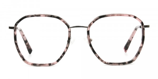 Geometric tortoiseshell glasses