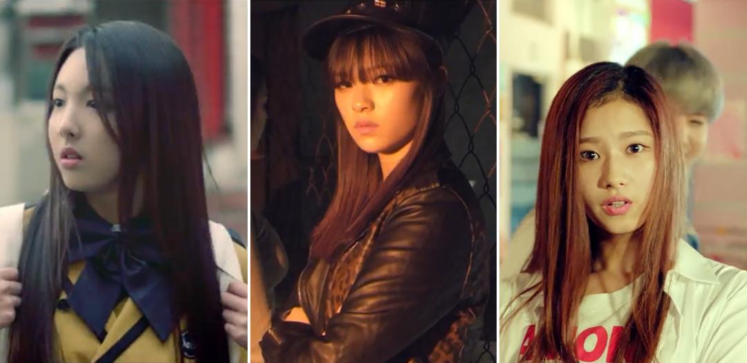 Nayeon e Jeongyeon - MV de Girls Girls Girls. Sana - MV de A.