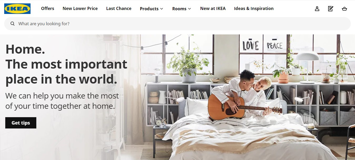 IKEA's landing page.