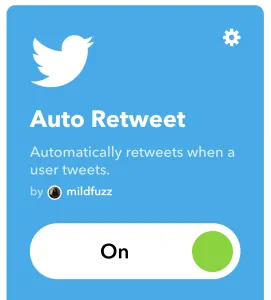click on the settings icon - auto retweet tools - TweetJumbo.com- twitter automation bot tool