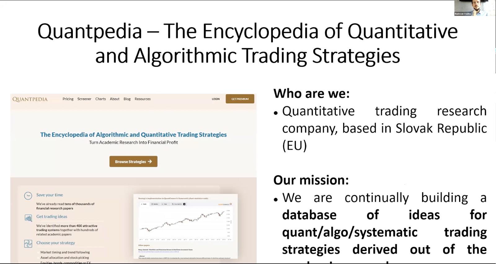 Quantpedia, Quantitative Trading Research Company
