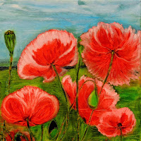 Field of pink poppies