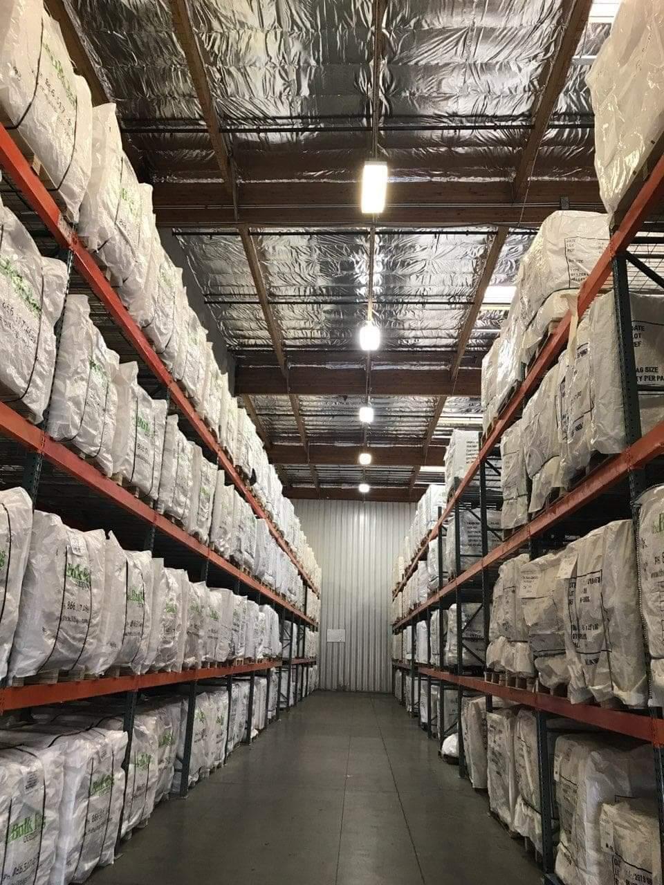 big bags in racking shelves