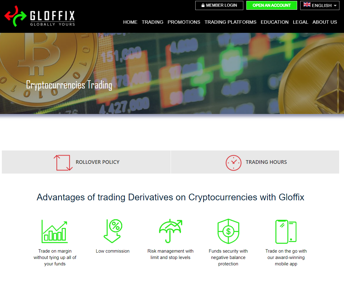 Gloffix cryptocurrency trading