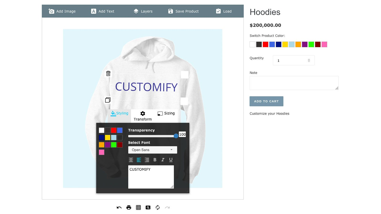 Customify - Product Customizer