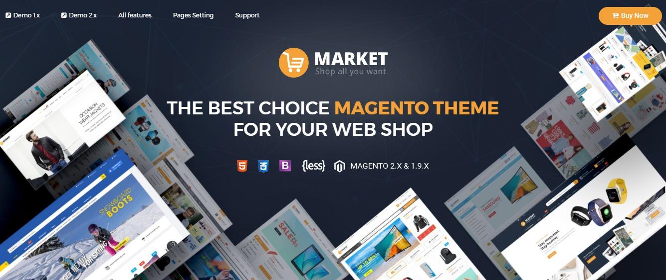 Market  - Magento fashion theme
