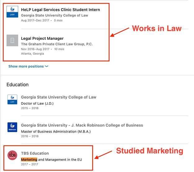 keyword search example sales navigator