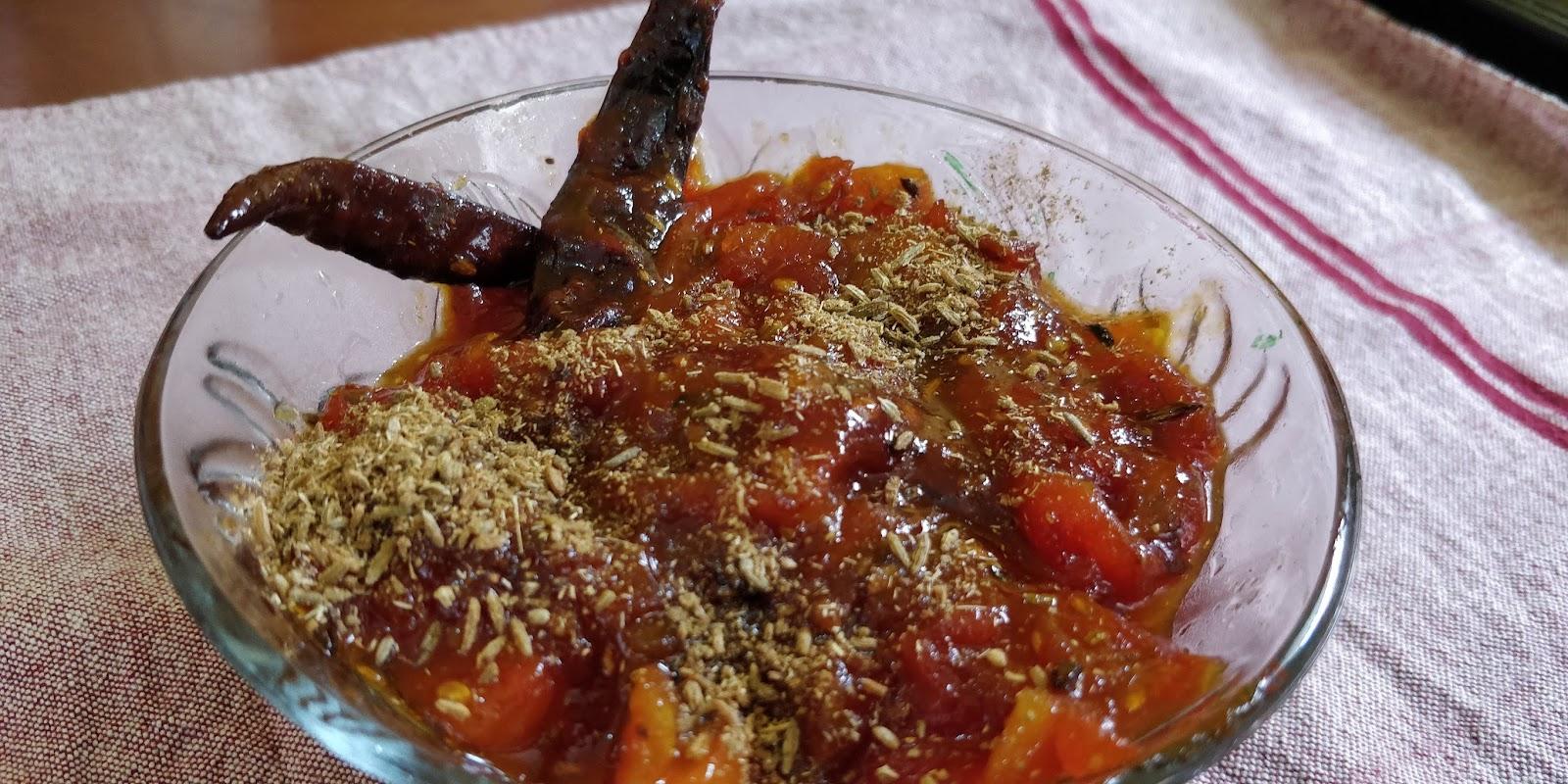 Fennel Tomato Chutney recipe