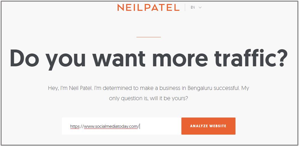 neilpatel website