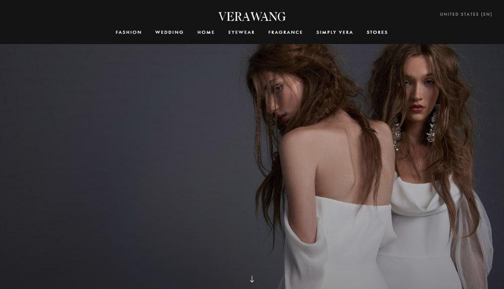 Vera Wang Homepage, 2017