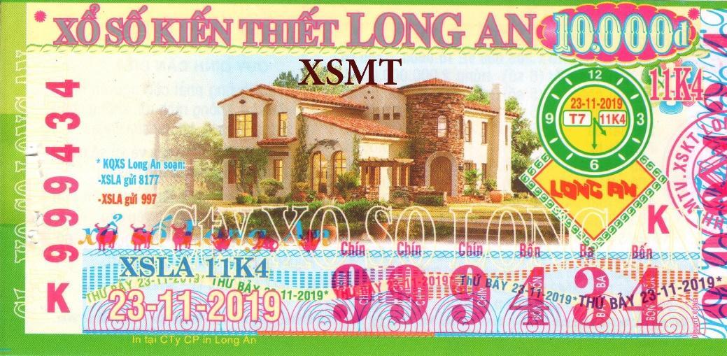 Vé số đài Long An- XSMT