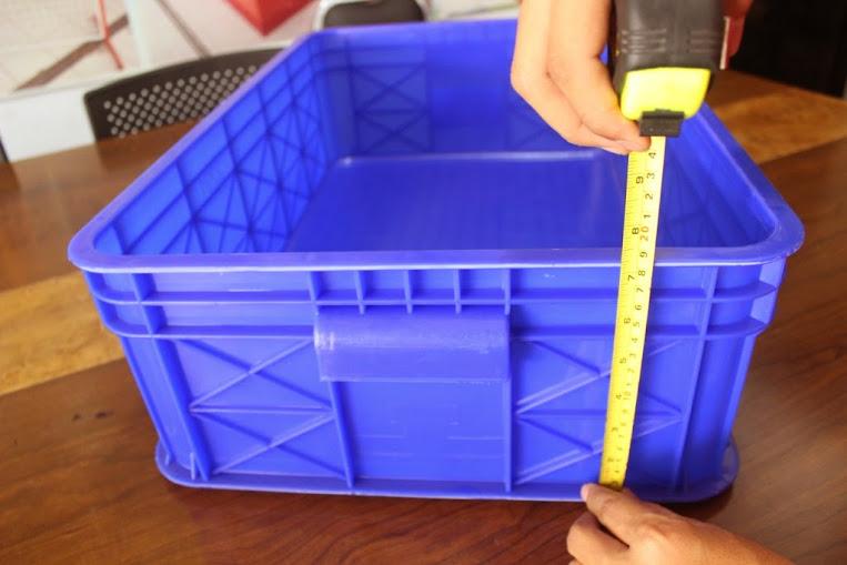 JUAL KERANJANG KONTAINER PLASTIK POLOS TIPE 2291 P | Green Leaf | www.rajarakminimarket.com | RAJA RAK INDONESIA | JAKARTA