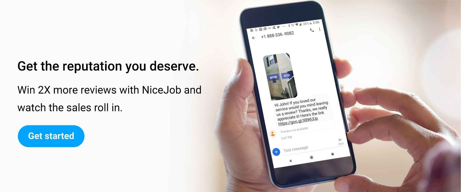 Reputation marketing software from NiceJob to get more reviews.