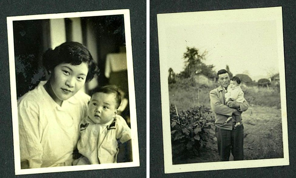 Томоко з батьками