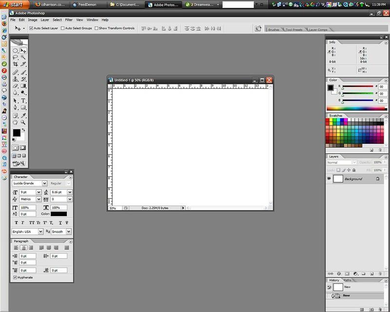 photoshop menus