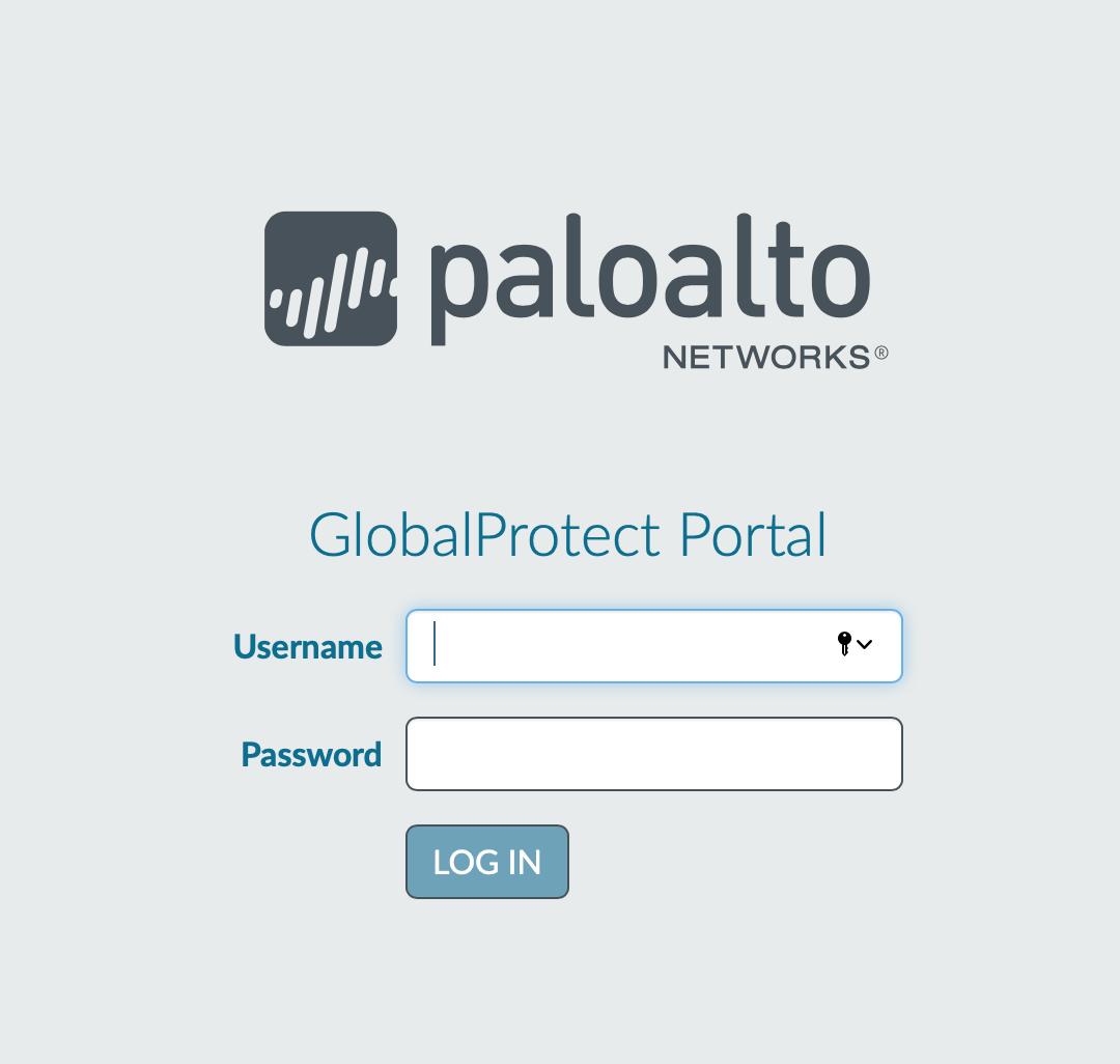 PaloAlto Login window for Mac users