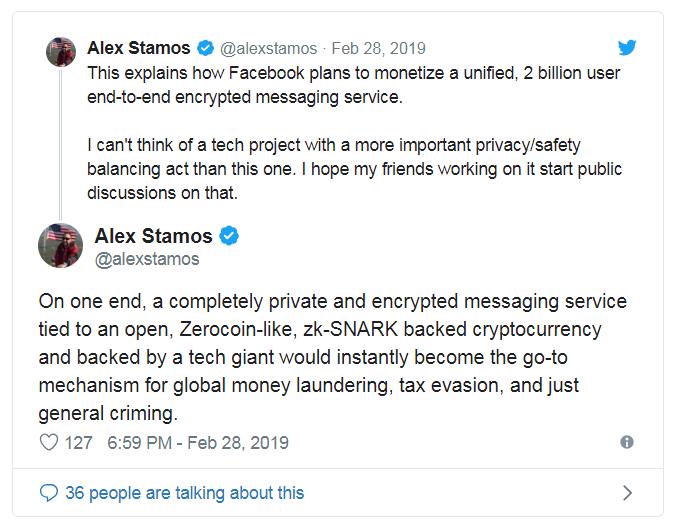 Alex Stamos on Twitter