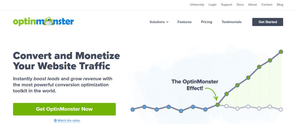 OptinMonster - página inicial