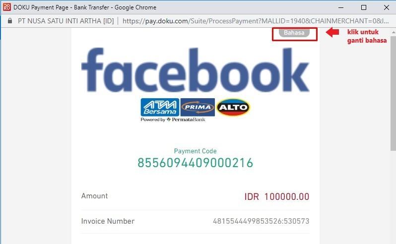 Cara Bayar Iklan Fb Ads Ig Tanpa Kartu Kredit Activomni