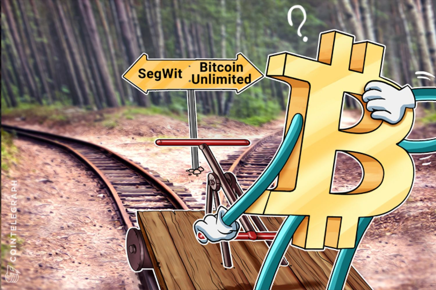 Bitcoin is choosing between SegWit and Bitcoin Unlimited on the railroad
