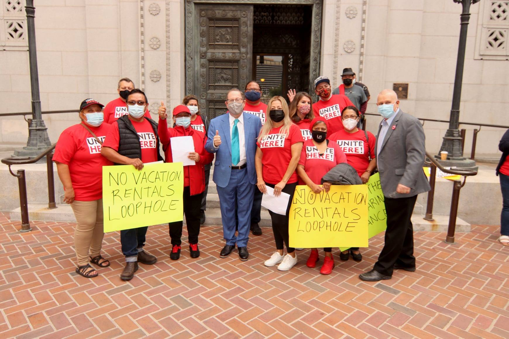 Koretz stands with UniteHere Local11 Opposing Vacation Rental Loopholes