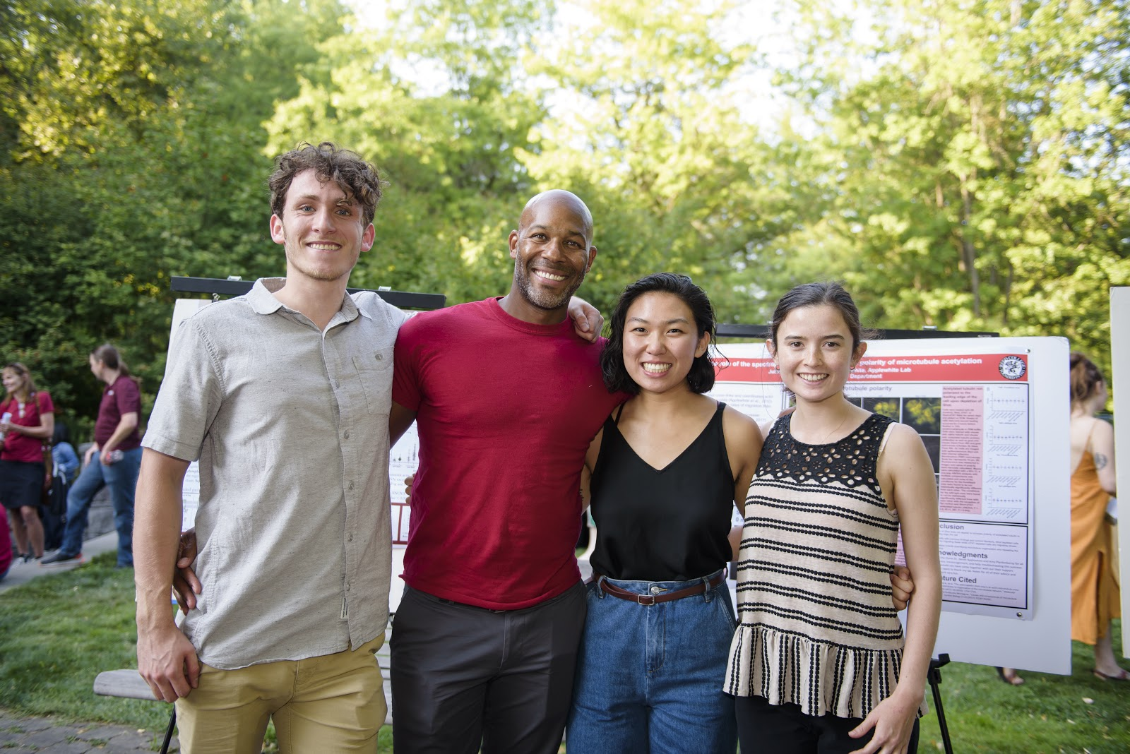 Derek with mentees at Reed College