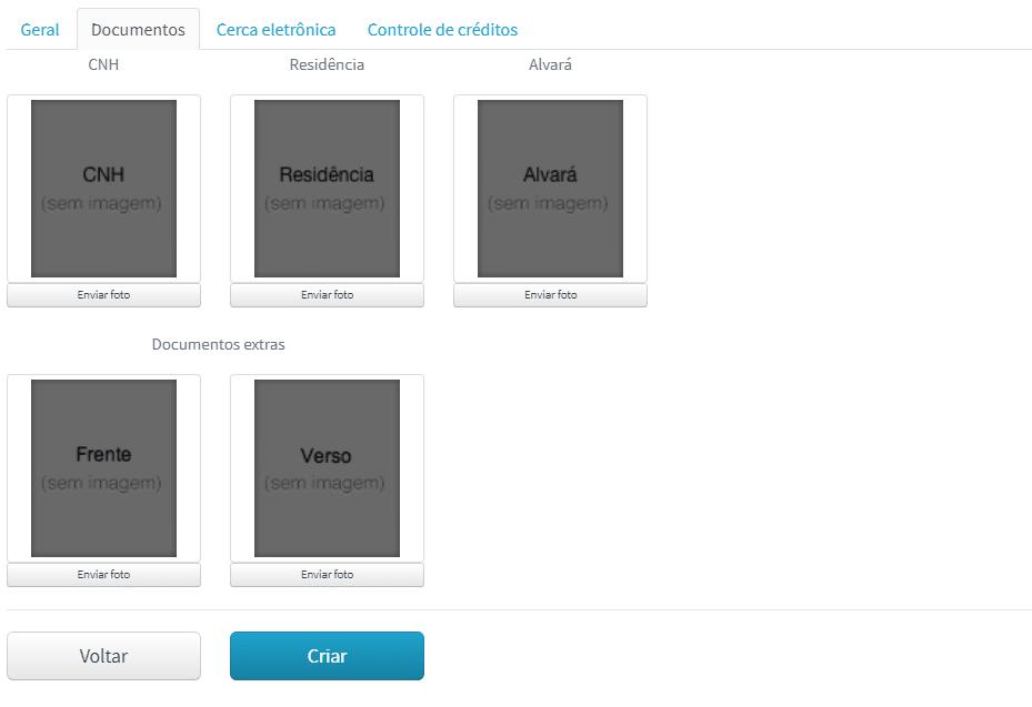 Envio de documentação na Machine