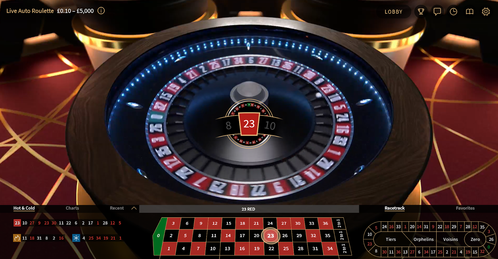 Auto Roulette is one of the many great roulette games you can play at Casino Gods