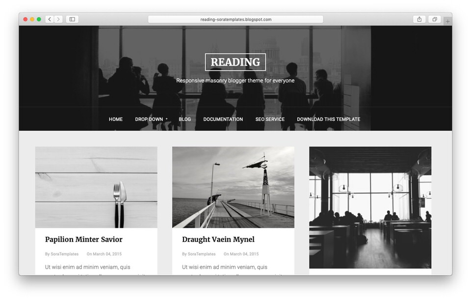 Template Blogger Responsive Reading