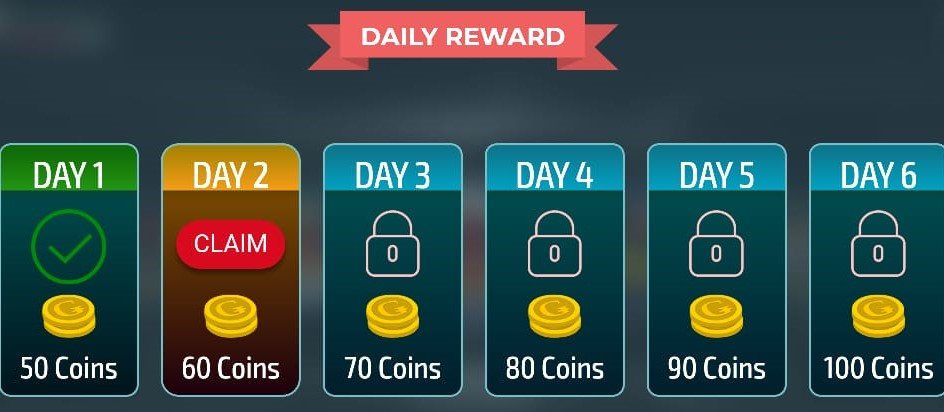 Gamentio app provides a daily reward