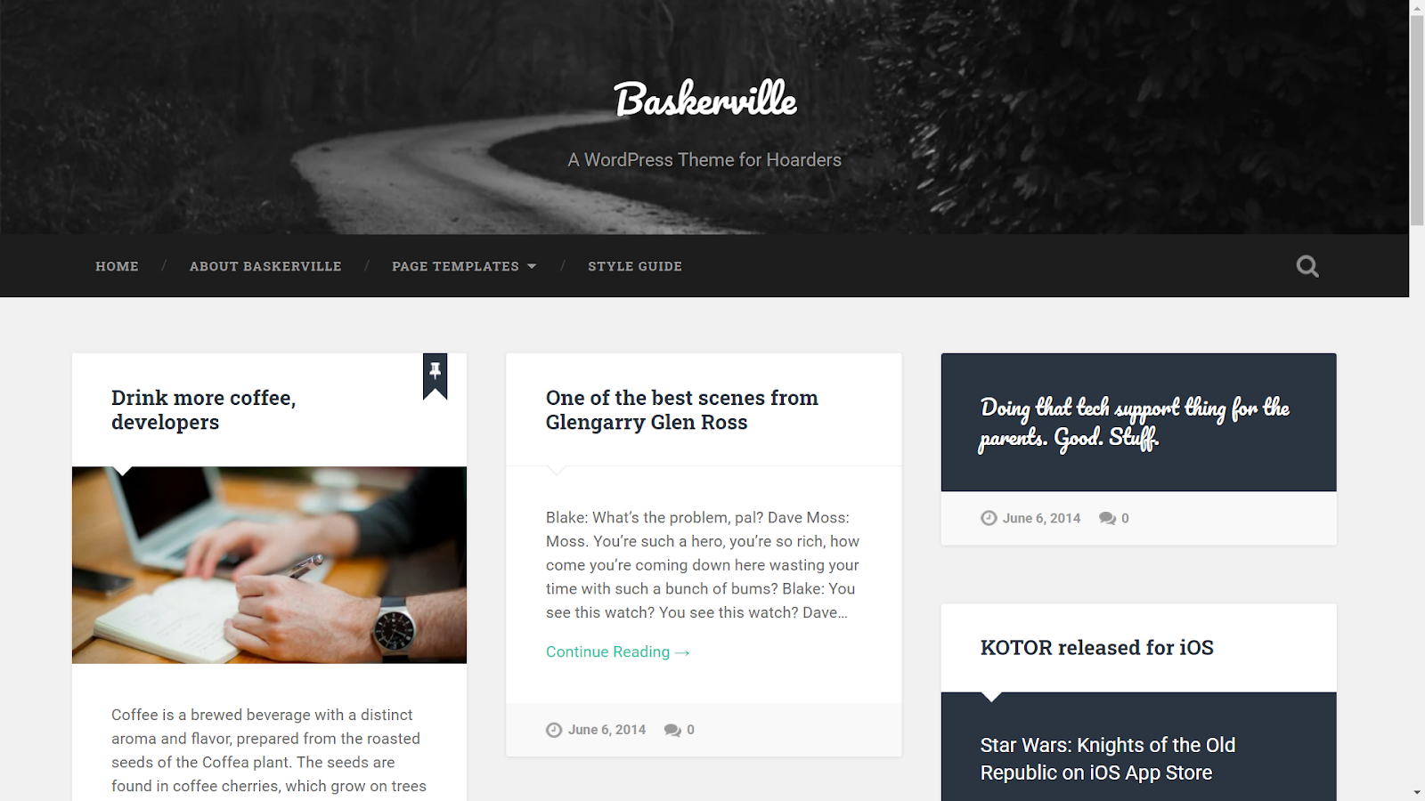 Masonry WordPress Themes - Baskerville