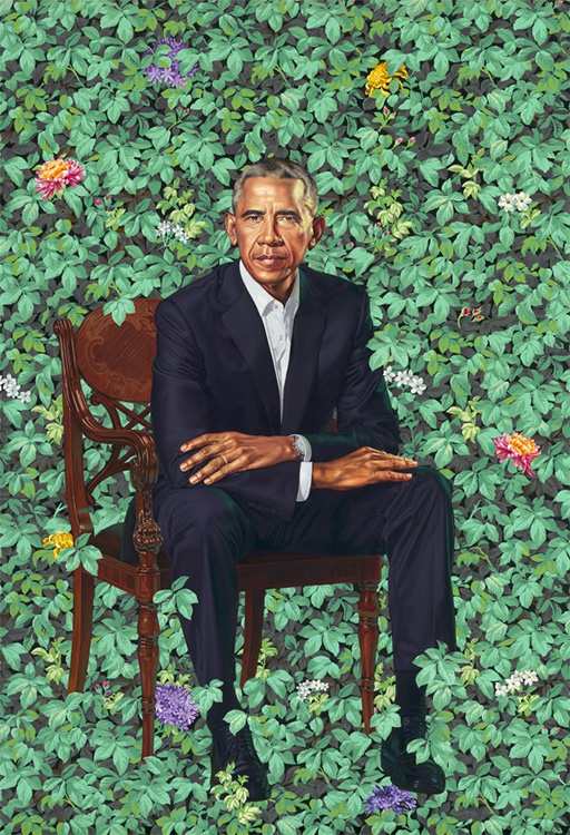 Kehinde Wiley (b. 1977) - Barack Obama, 2018