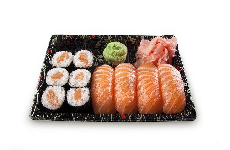 Sushi, Set, Nigiri, Maki, Fish, Raw, Salmon, Rice