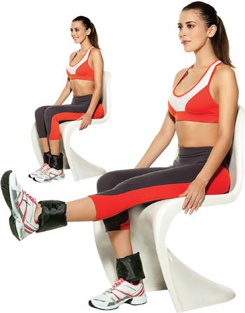 Procure usar meias compridas para fazer esse exercício, assim, a caneleira, fica correta em sua perna.