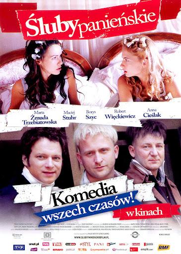 Przód ulotki filmu 'Śluby Panieńskie'