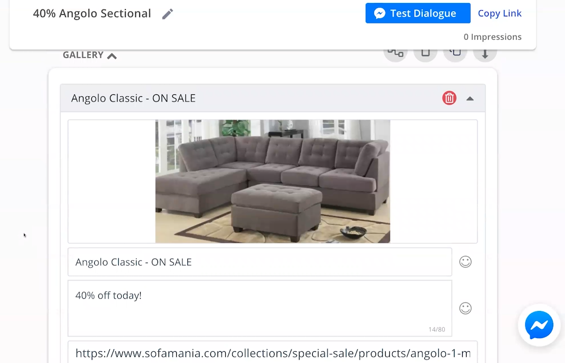 web chat examples - build a sales chatbot